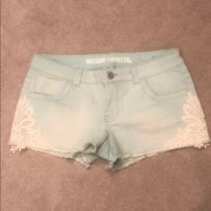 Mossimo lacy-detail short shorts